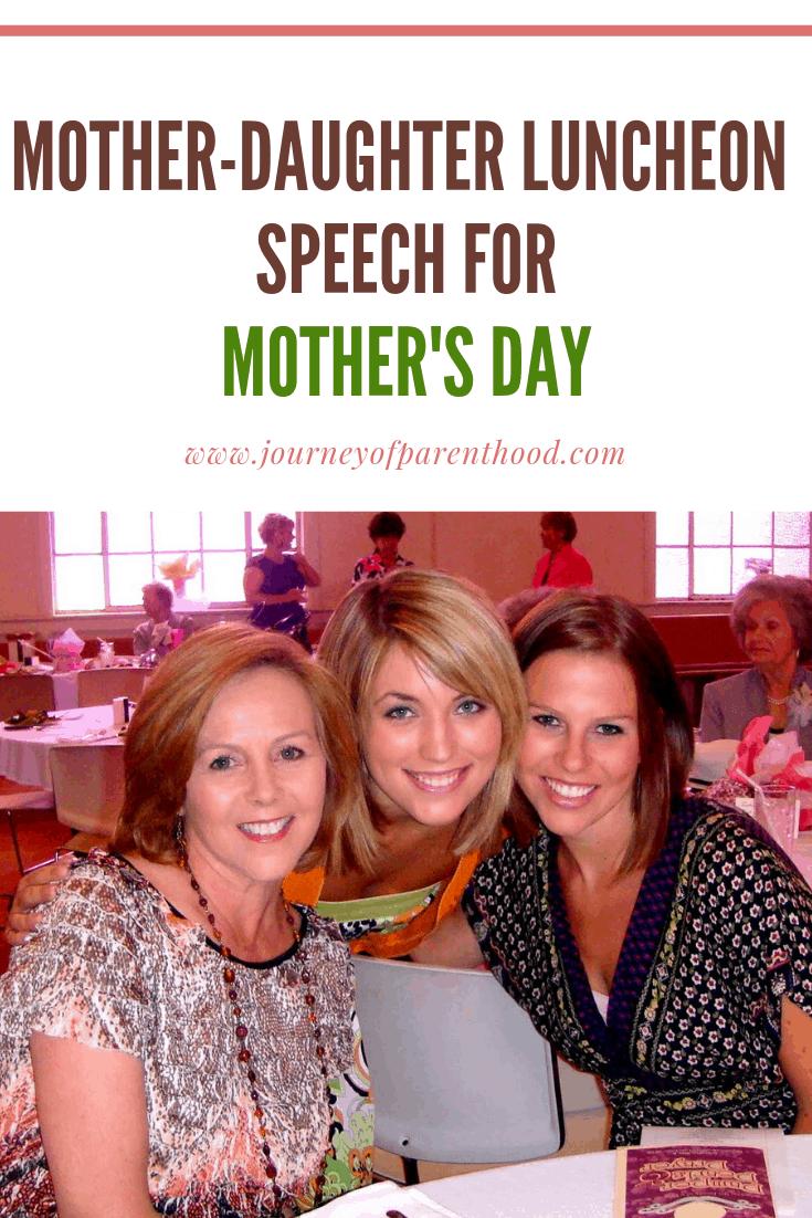 Mother's Day luncheon speech