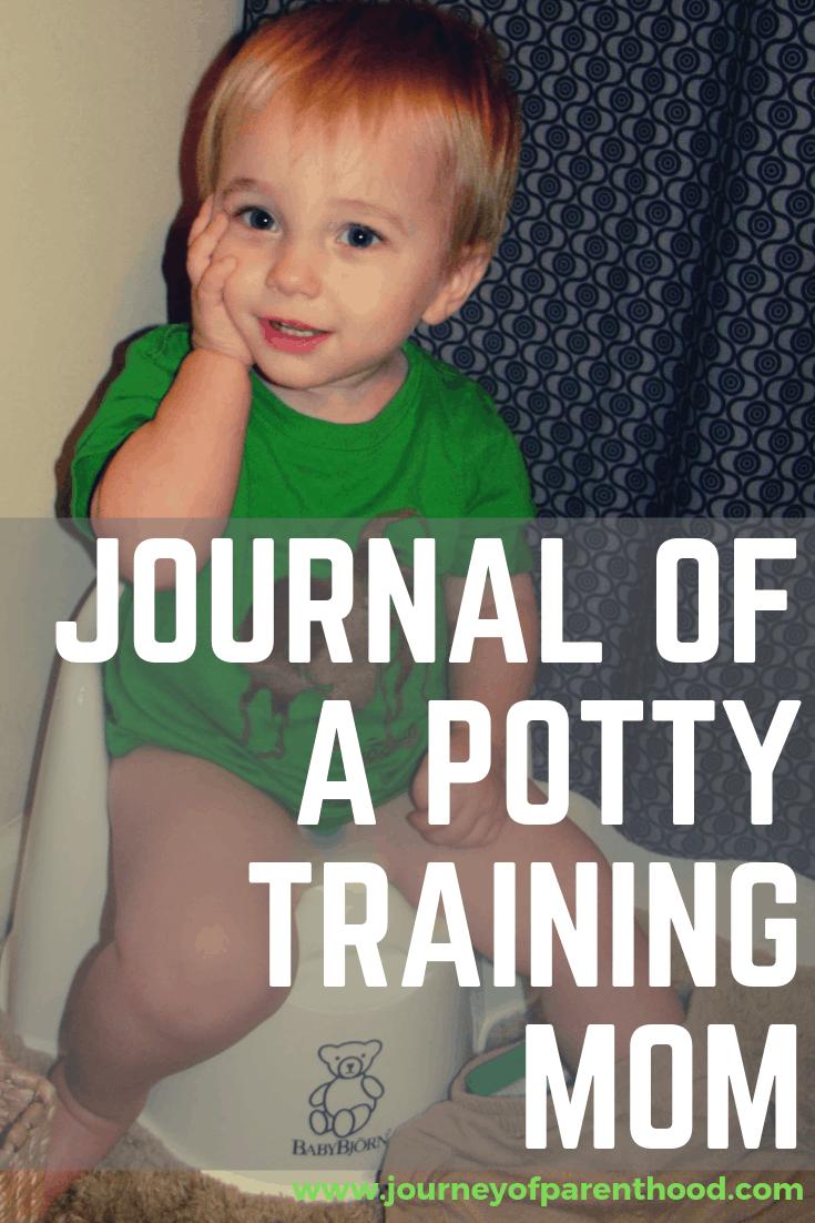 pinterest image: journal of a potty training mom