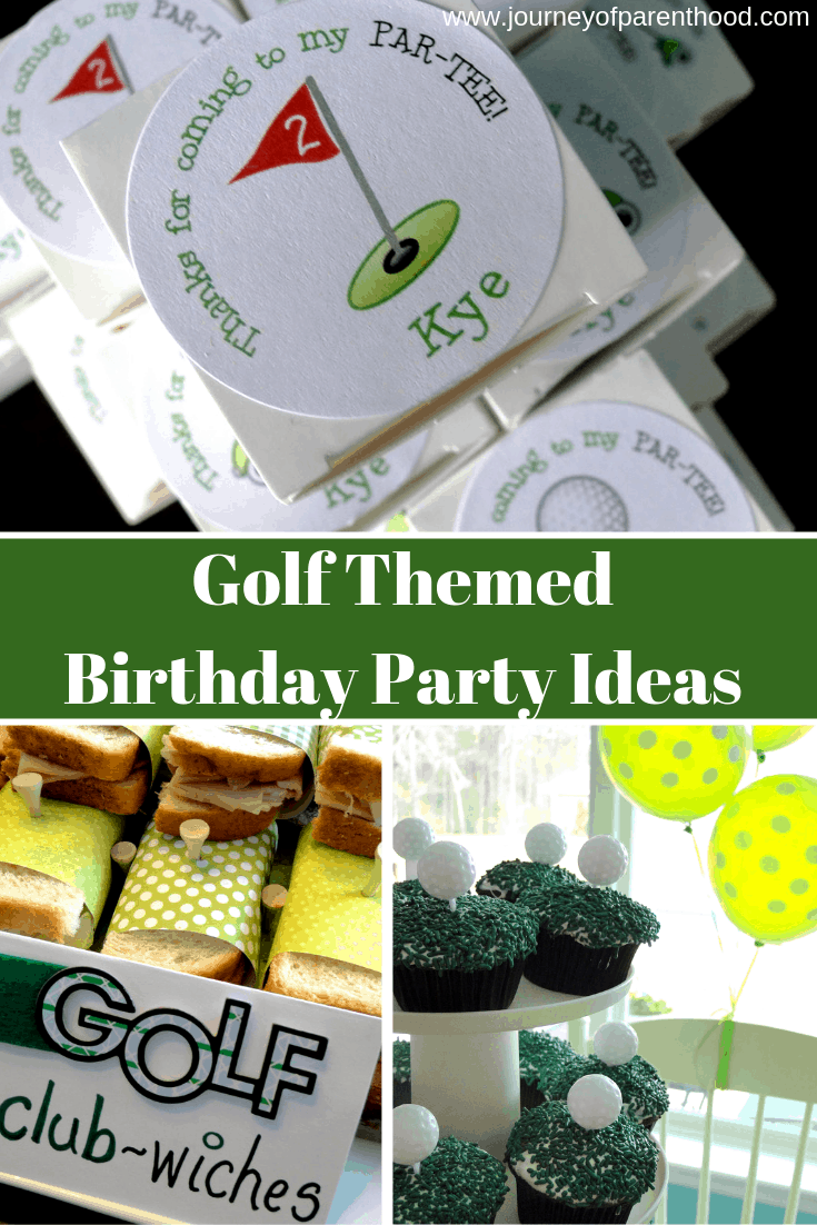 Golf Party Decor The Journey Of Parenthood