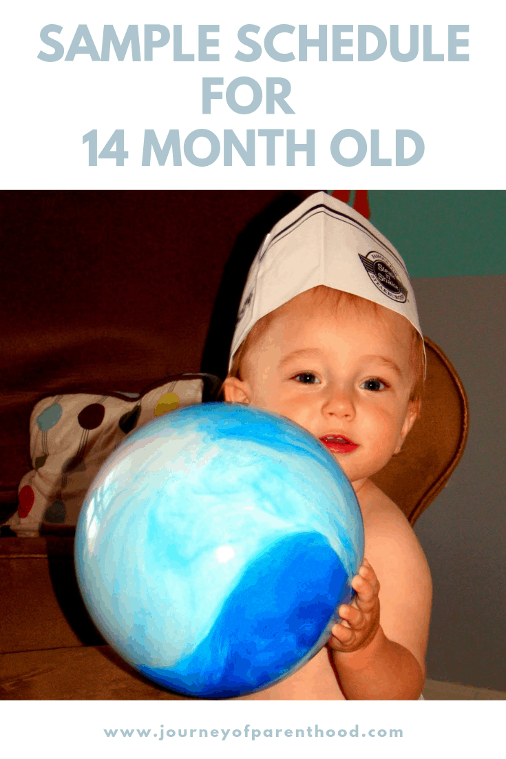 sample schedule for 14 month old