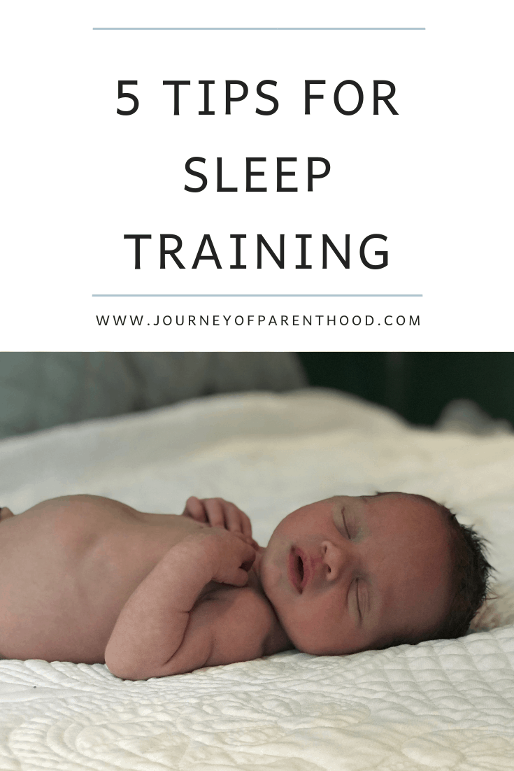 5 tips for sleep training your baby