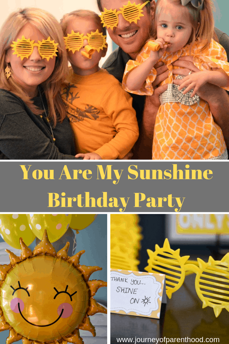 you are my sunshine birthday party