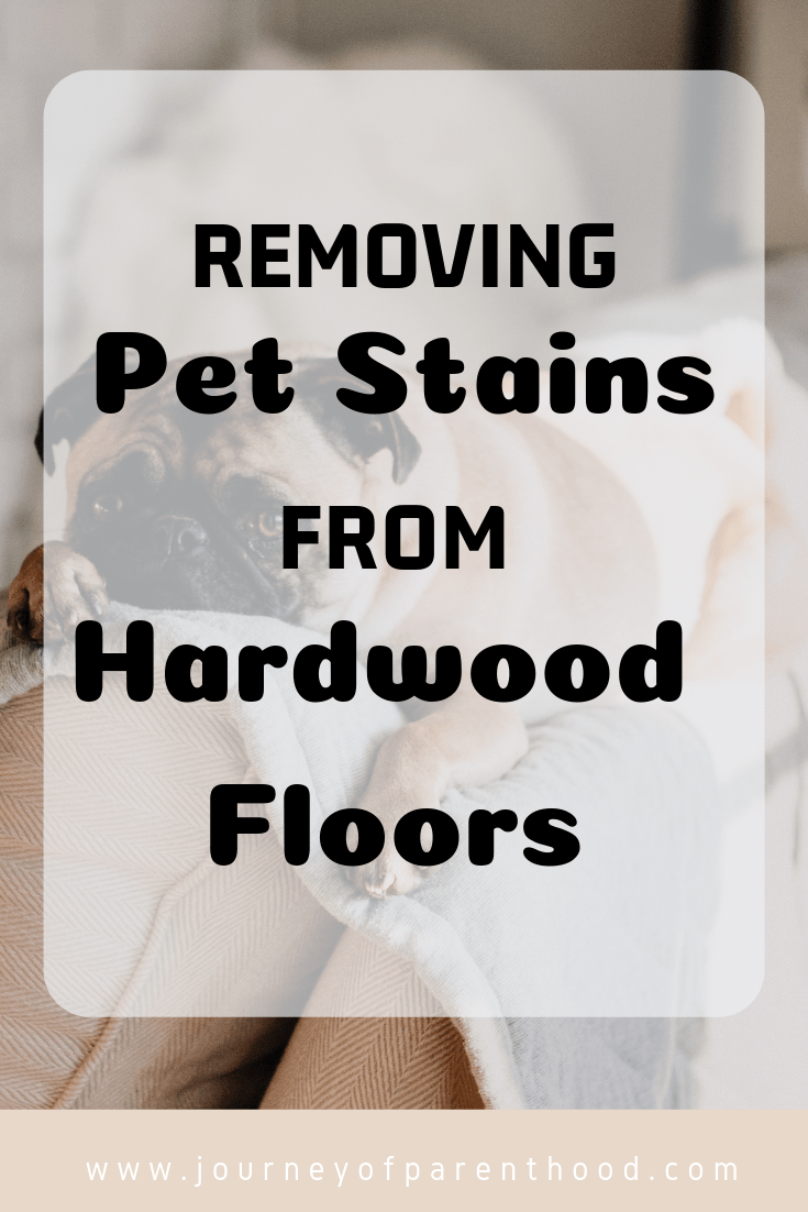 removing pet stains from hardwood floors