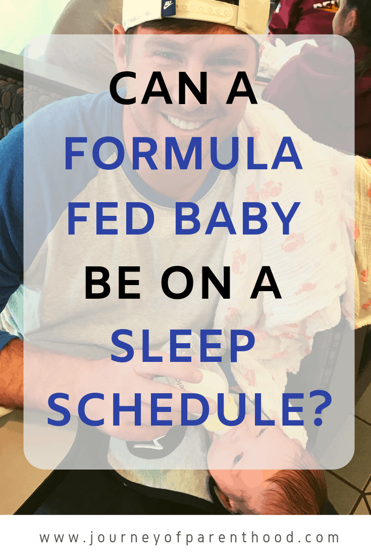 can a formula fed baby be on a sleep schedule