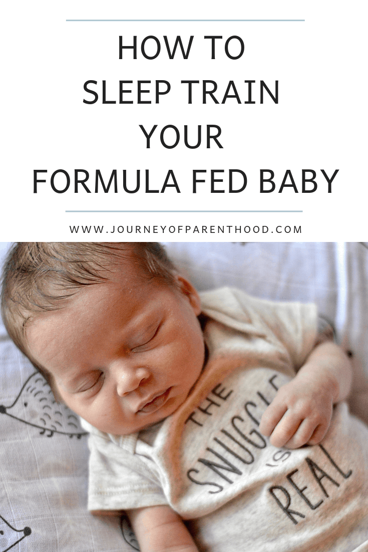 sleep train your formula fed baby