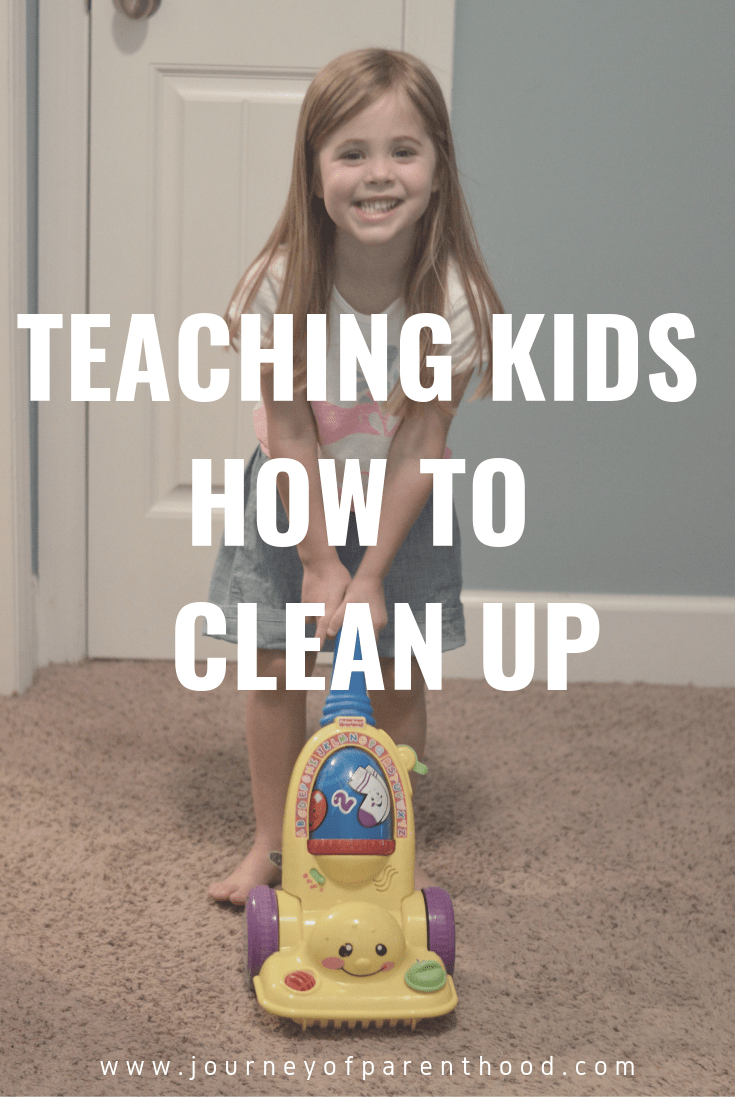 teaching kids how to clean up
