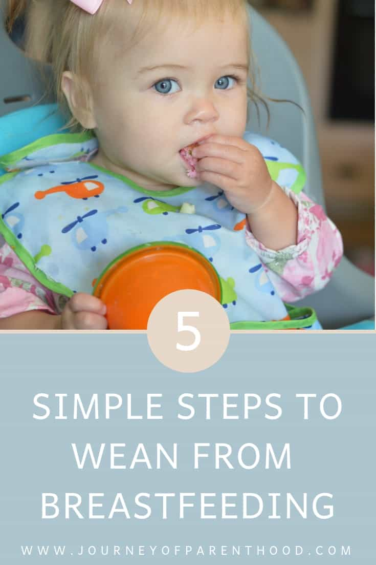 5 steps to wean from breastfeeding