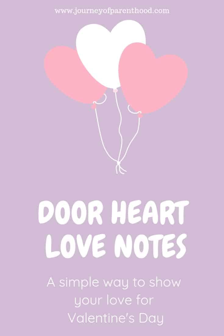 door heart love notes for Valentine's Day