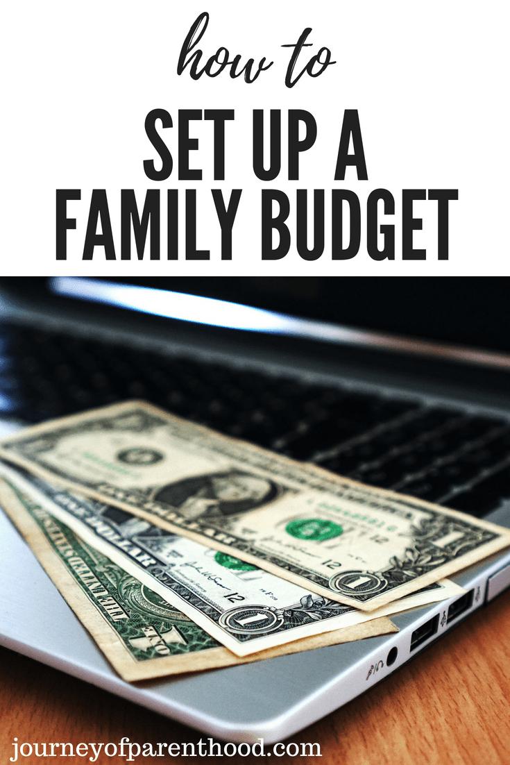 spending smart: how to set up a family budget