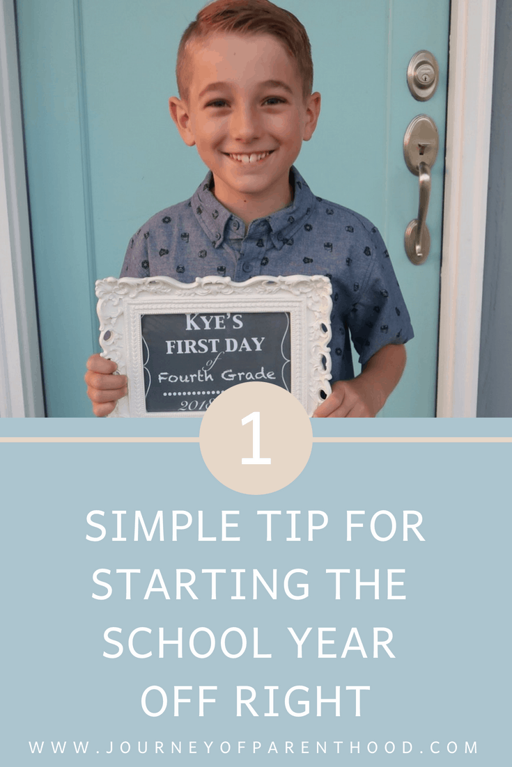 One Simple Tip for Starting the School Year off Right