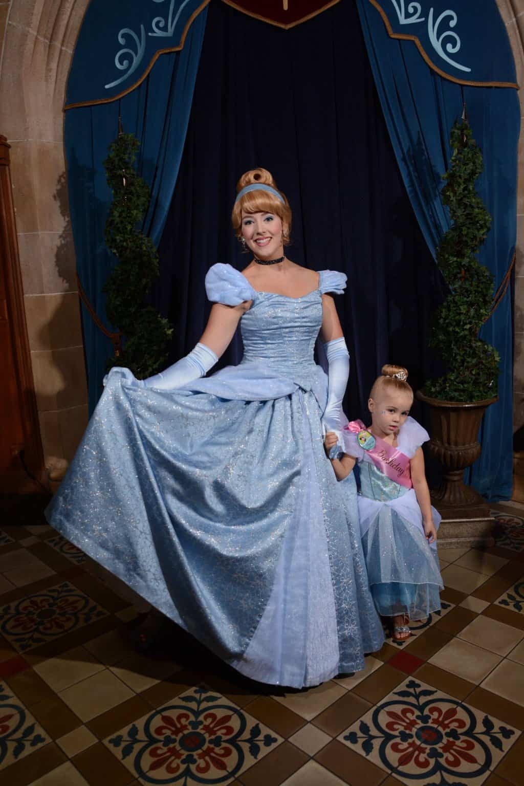 princess makeover with cinderella