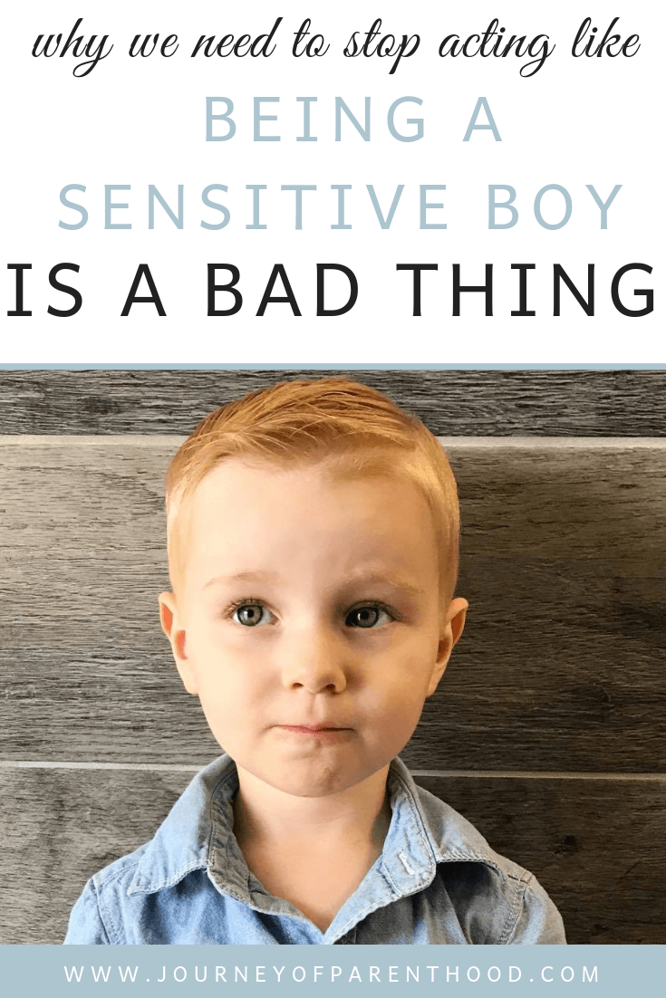sensitive boy is not a bad thing
