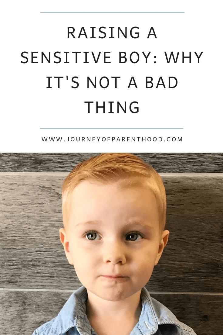 sensitive boy isn't a bad thing