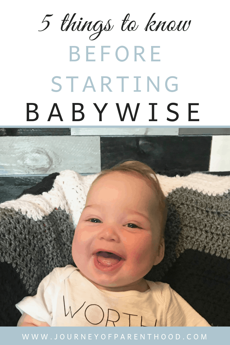 5 things to know before starting babywise
