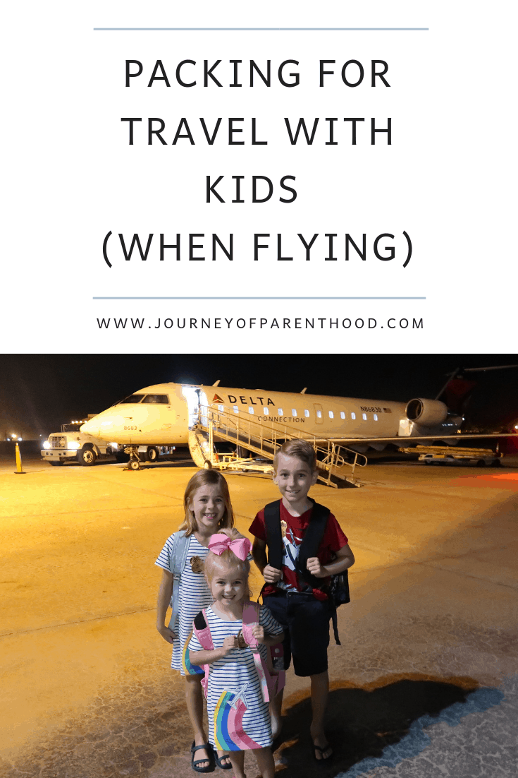 what to pack on a trip with kids when flying