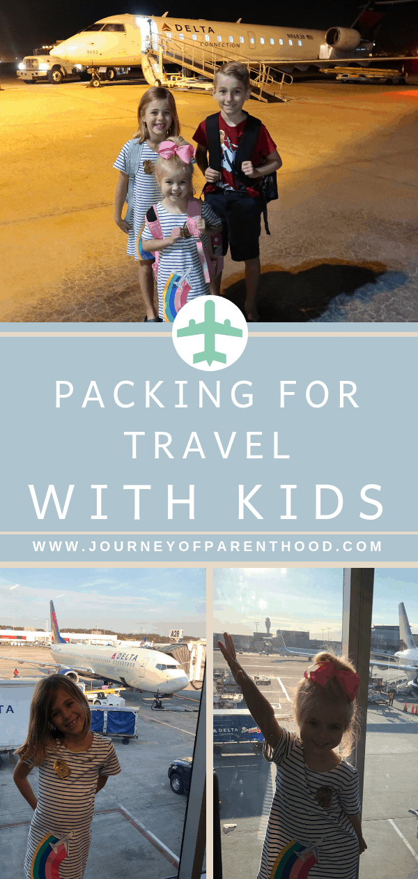 packing for travel with kids when flying