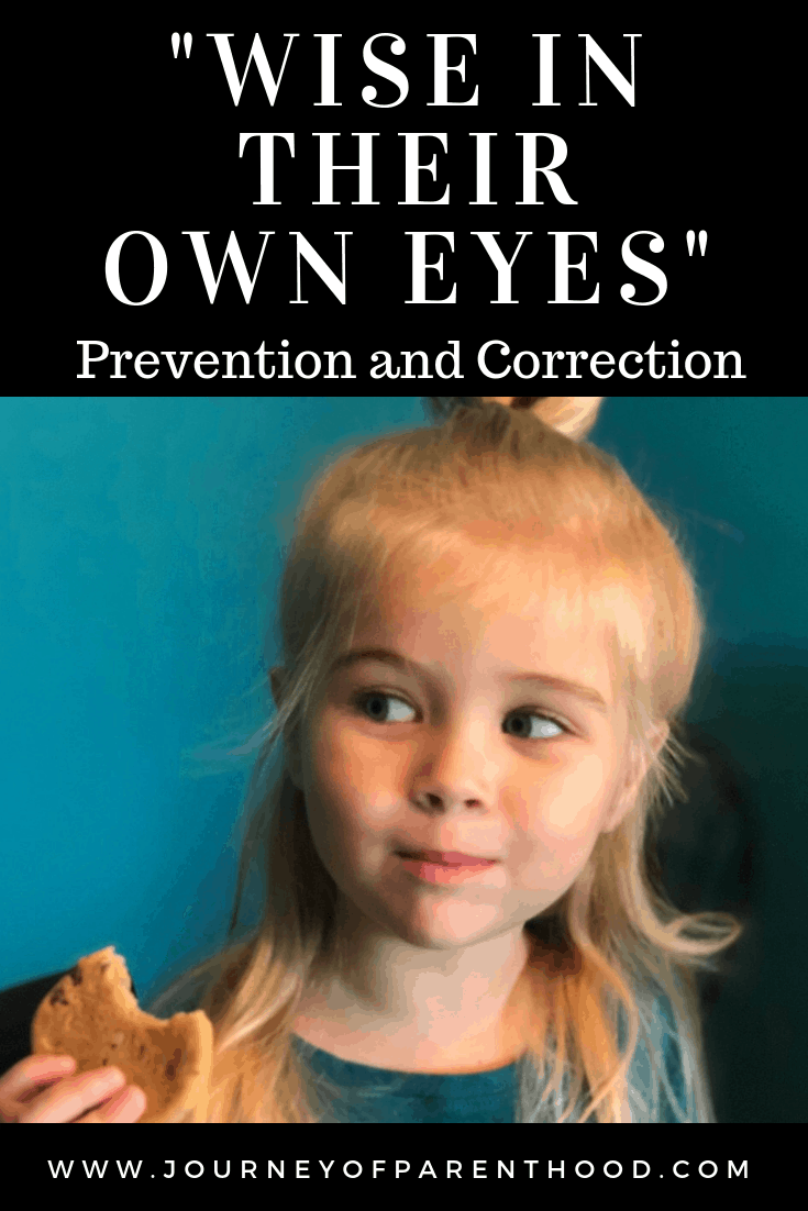 wise in their own eyes prevention and correction of this parenting issue