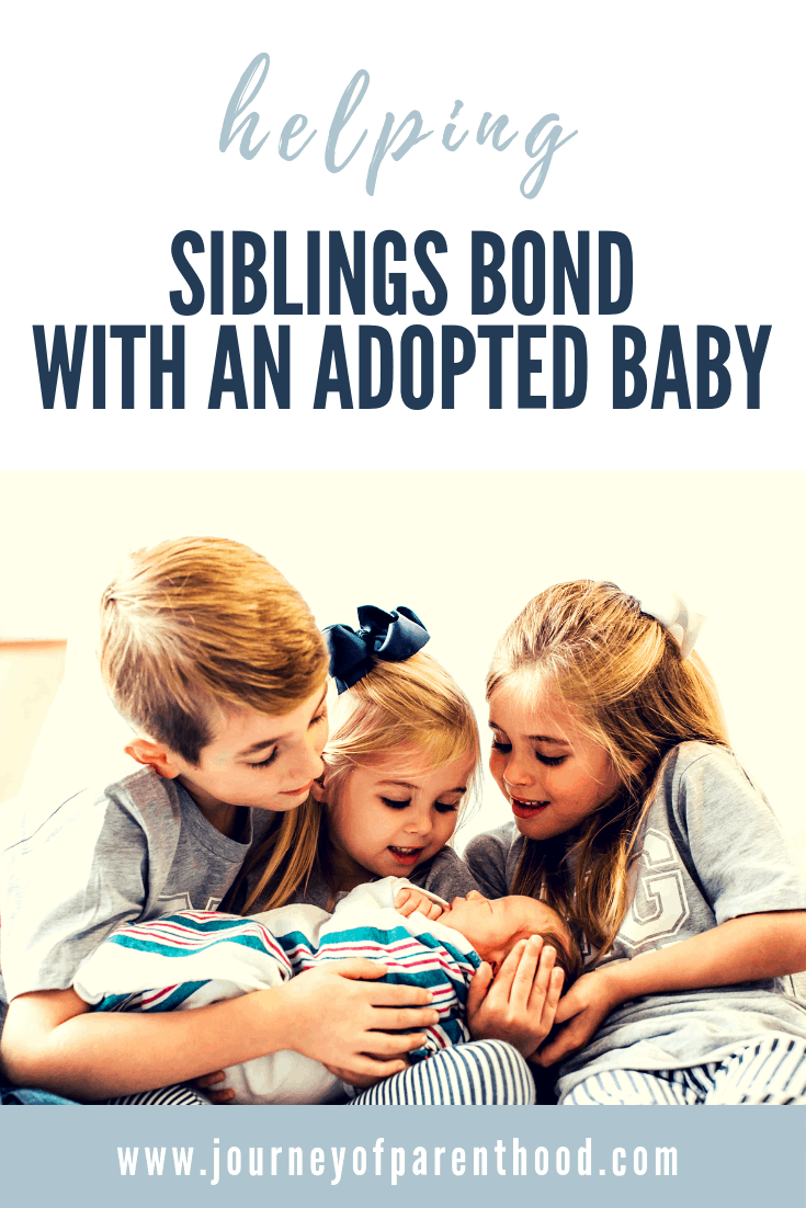 helping siblings bond with an adopted baby