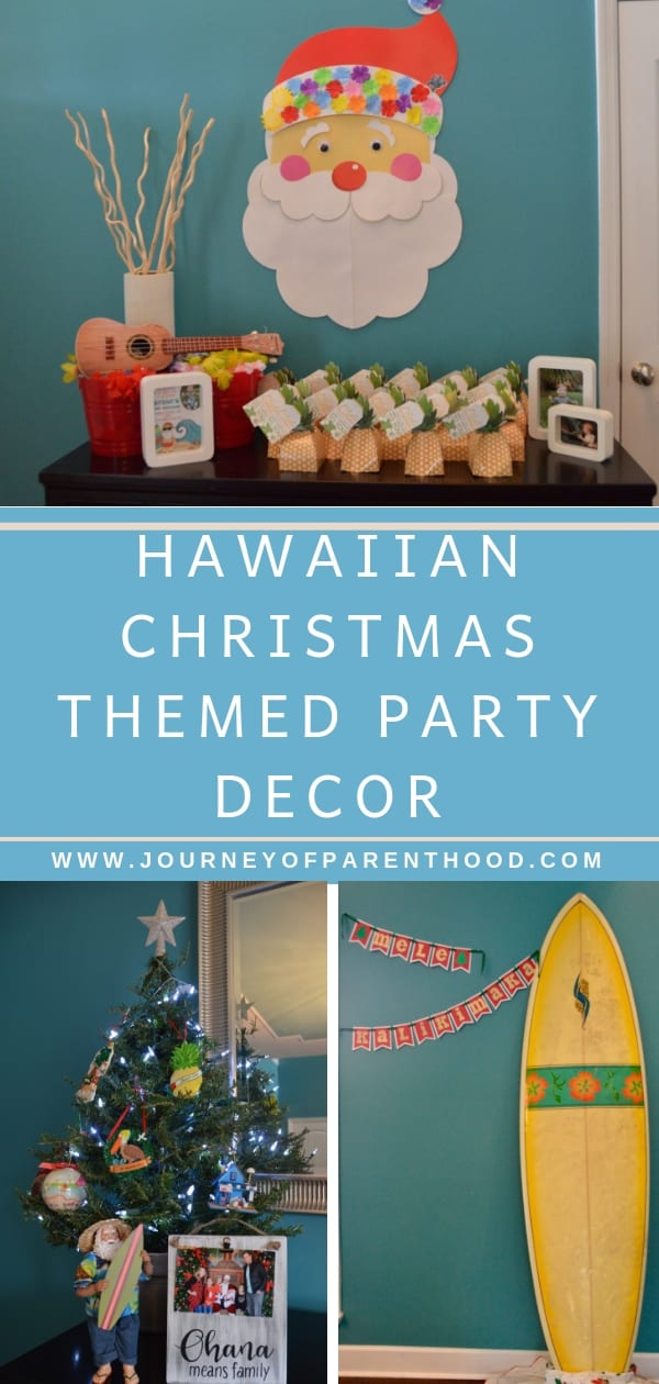 hawaiian christmas party decor