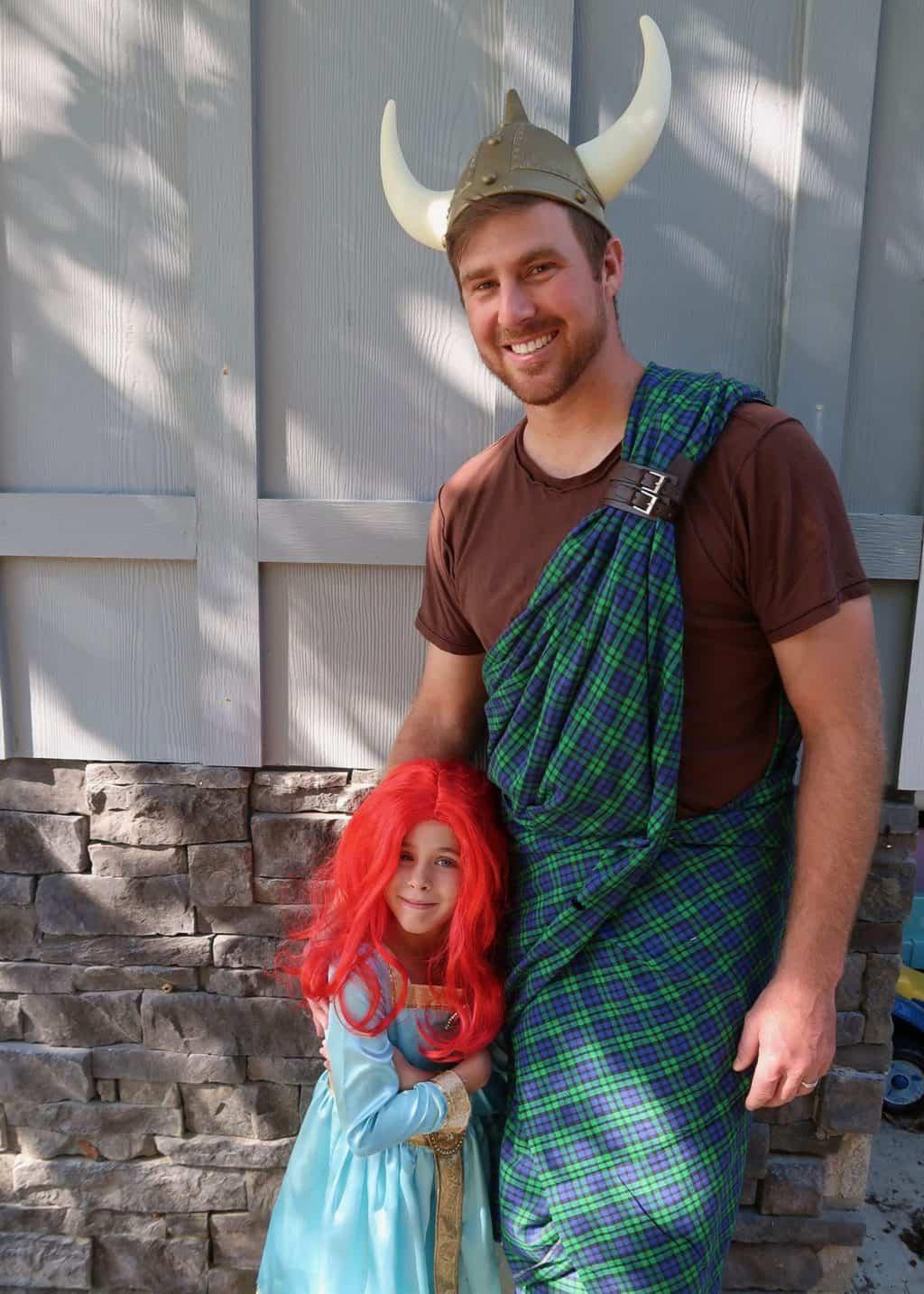 brave family costumes king fergus princess merida