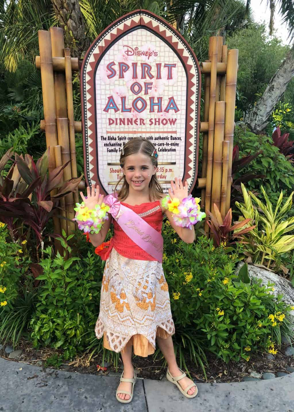 Britt's Disney 7th Bday: BBB and Spirit of Aloha Luau