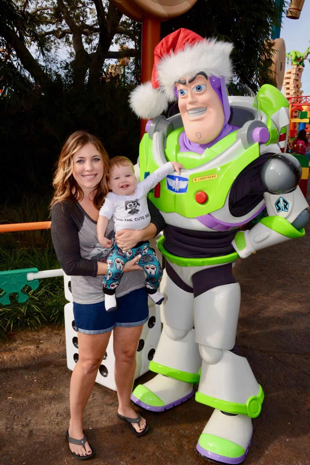 buss lightyear with toddler