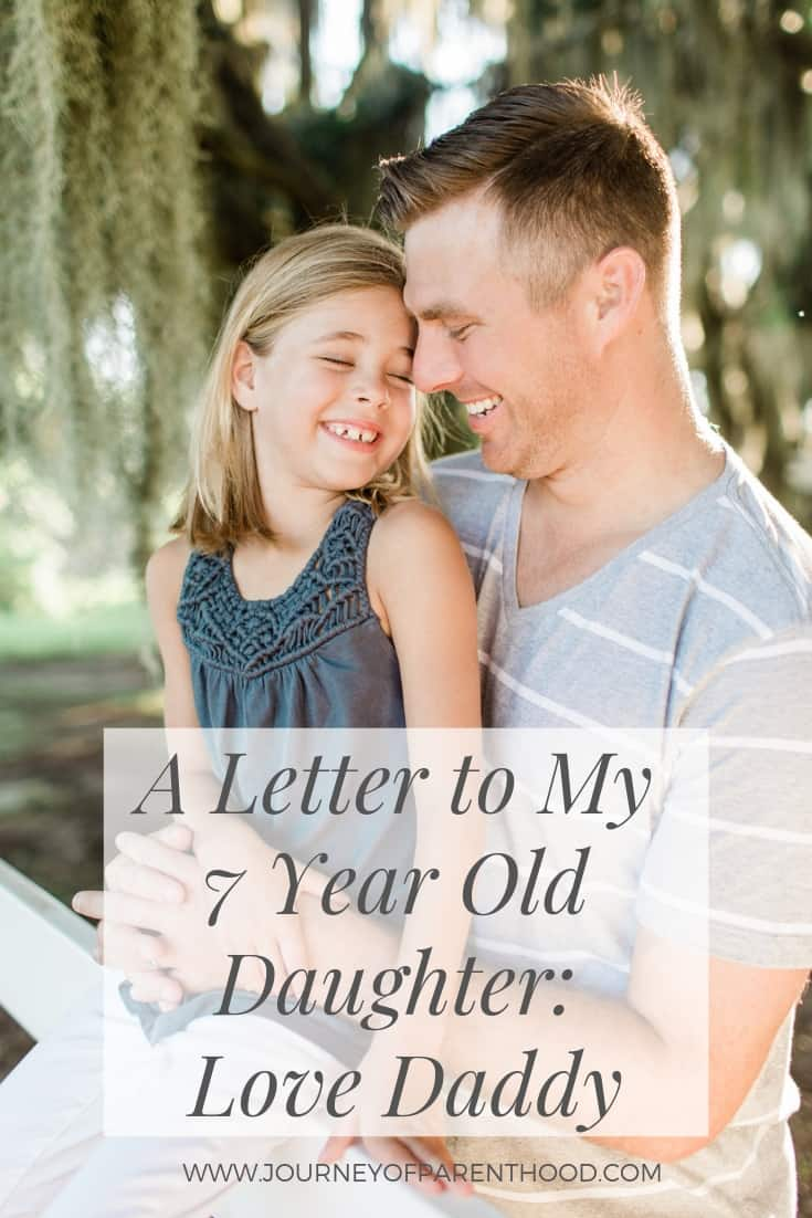 7th birthday letter to daughter from father