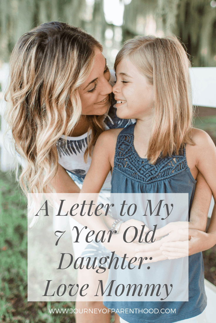 a letter to my 7 year old on her birthday love mommy