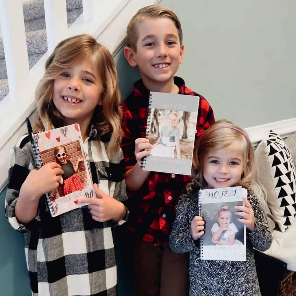 kids sharing gratitude journals