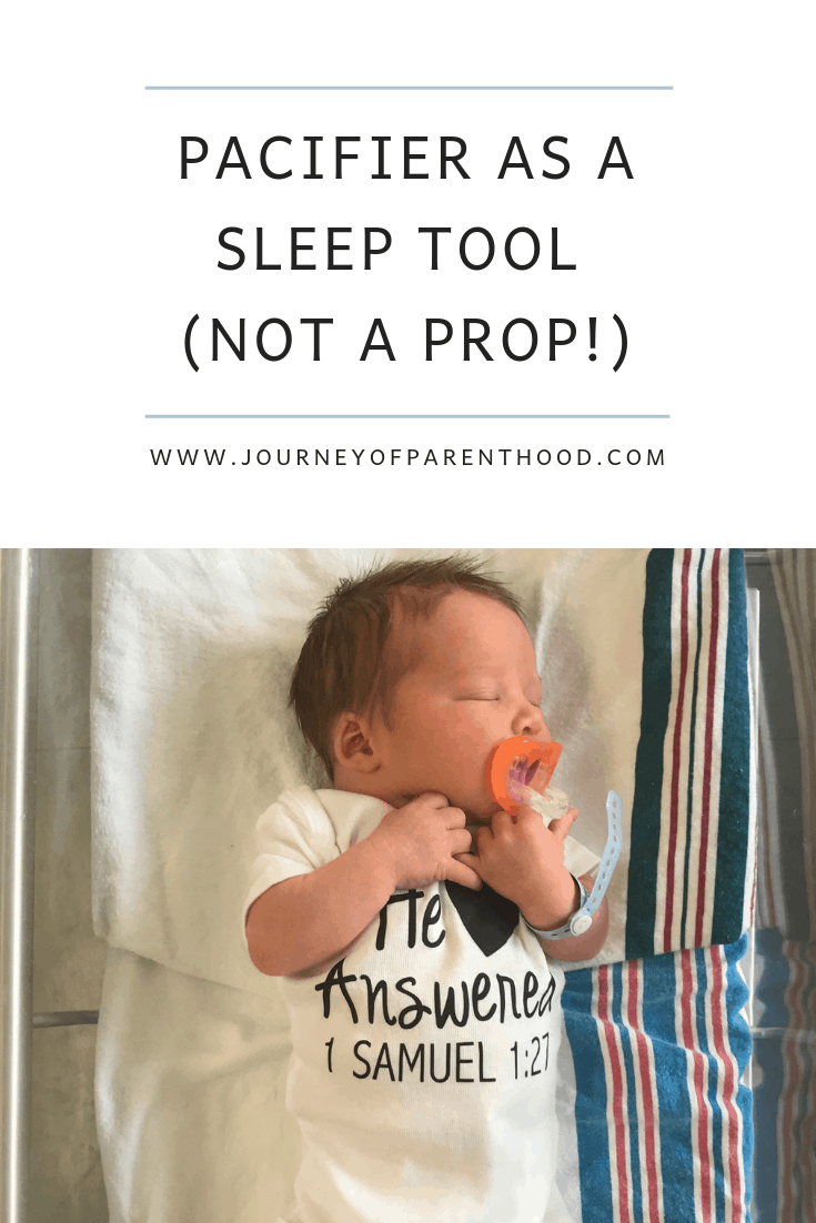 how to use a pacifier as a sleep tool (not prop)