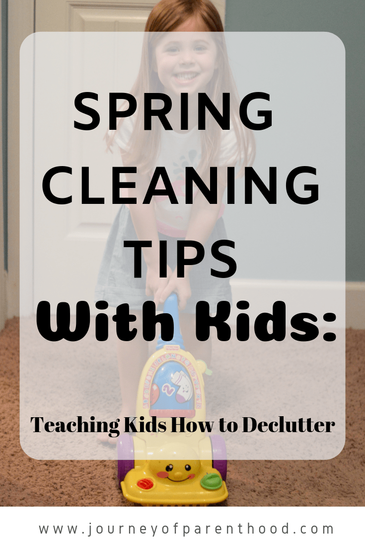 spring cleaning tips with kids