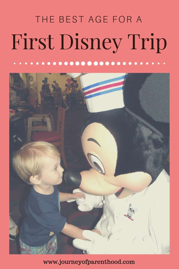 best age for first disney trip