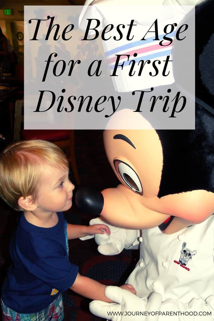 ideal age for first disney visit