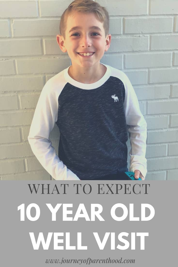 10 year old well visit