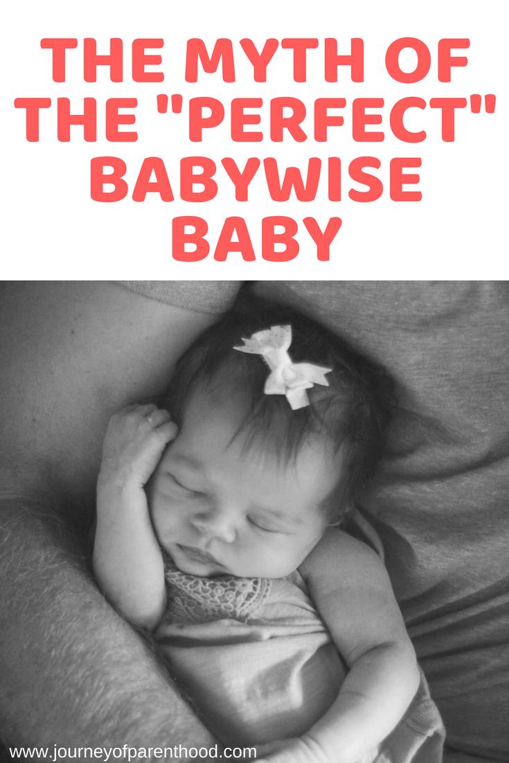 pinterest image: myth of perfect babywise baby