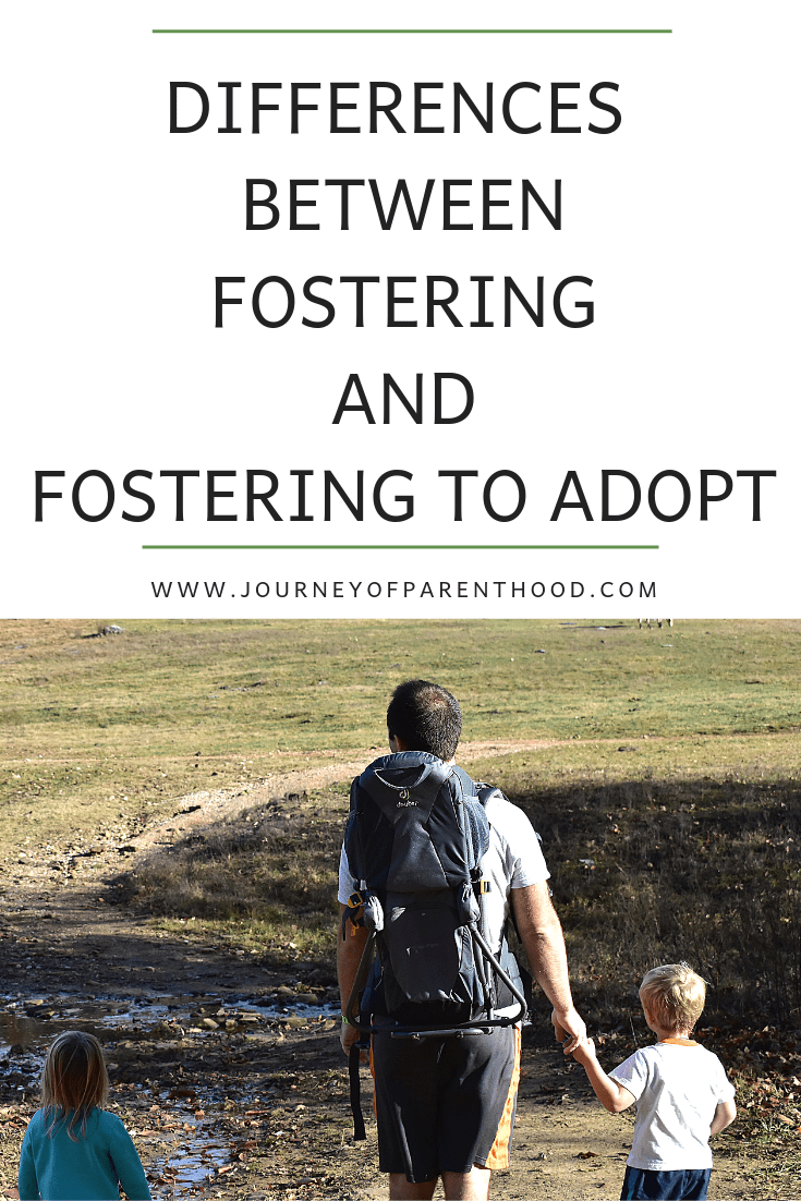difference between fostering and fostering to adopt