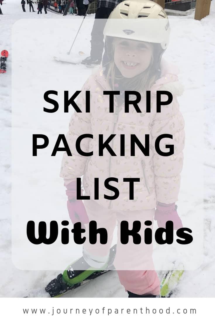 ski trip packing list with kids