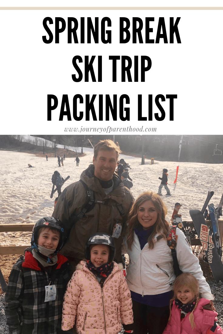 spring break ski trip packing list