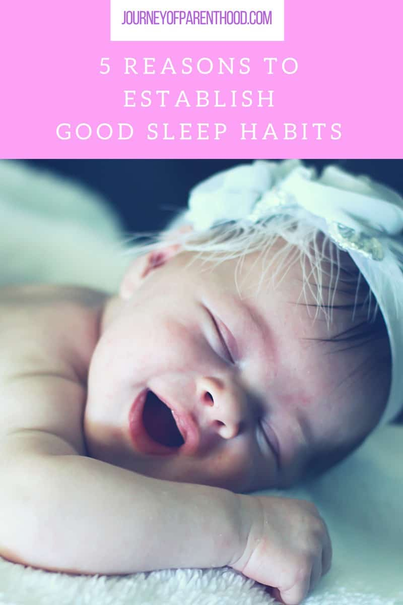 pinterst image 5 reasons to establish good sleep habits