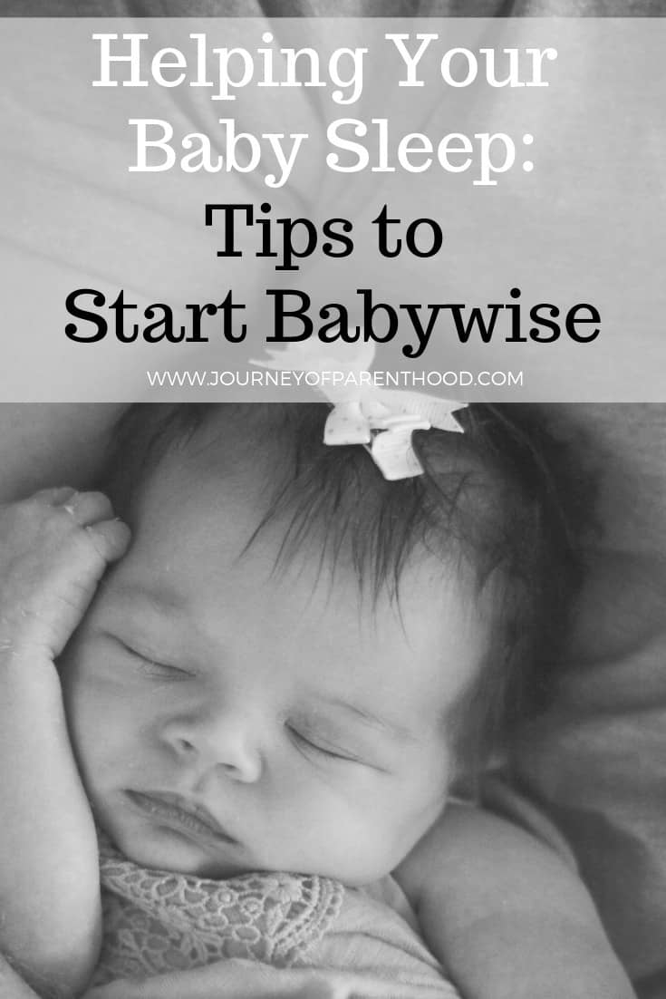 pinterest image: helping your baby sleep: tips for starting babywise