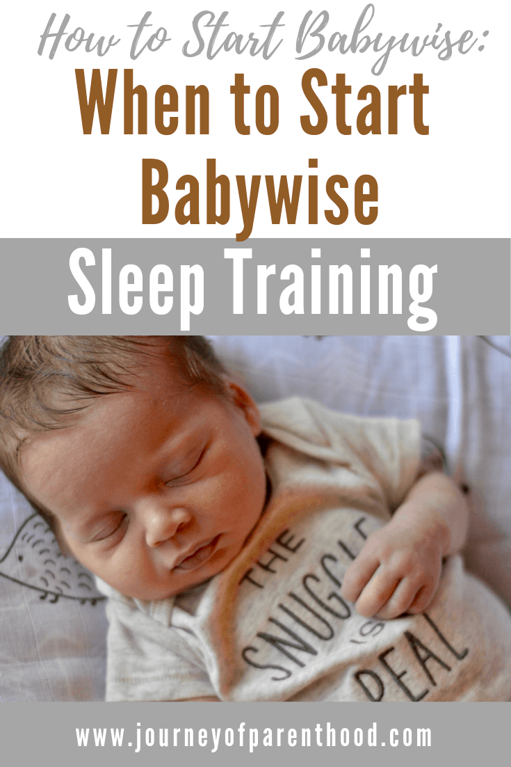 pinterest image: how to start babywise and when to start sleep training