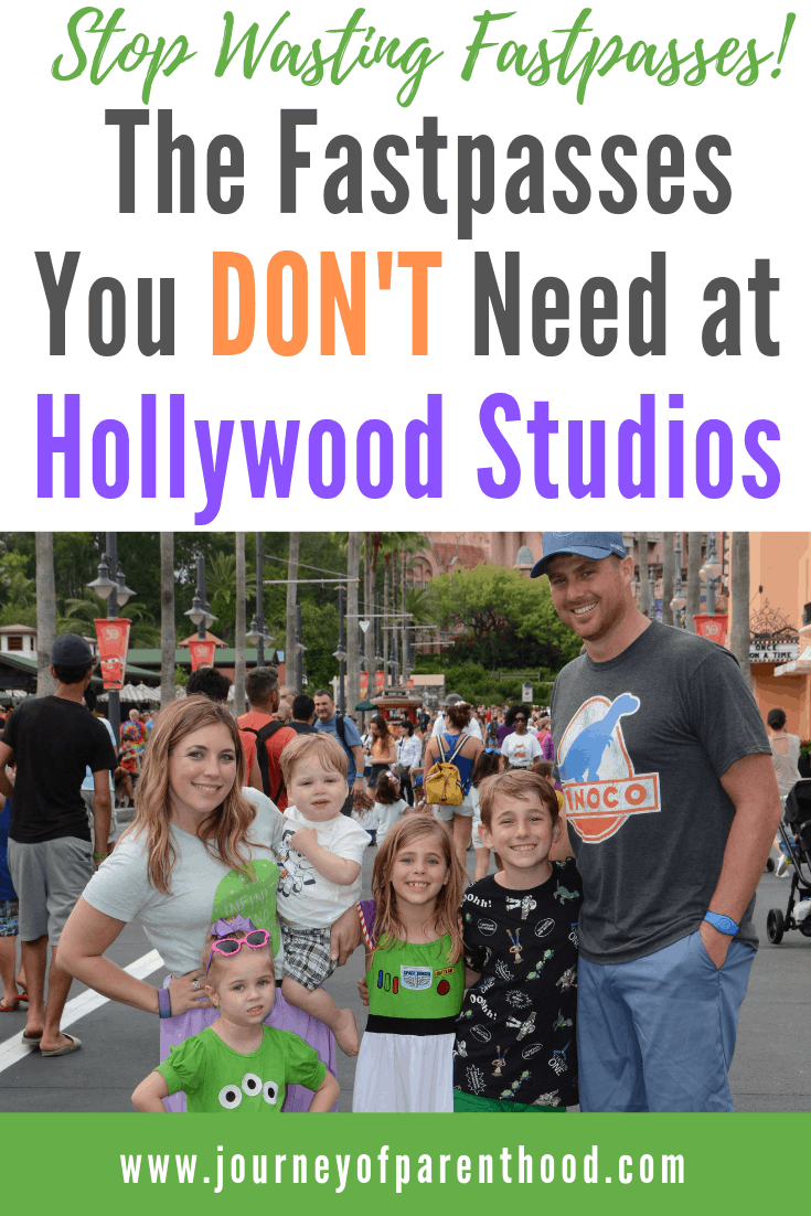 the fastpasses you don't need at Hollywood Studios