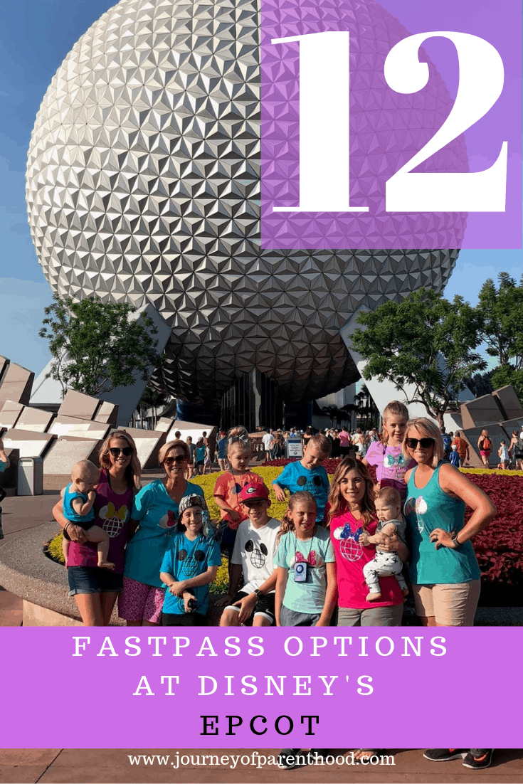 pin image: 12 fastpass options at Disney's epcot