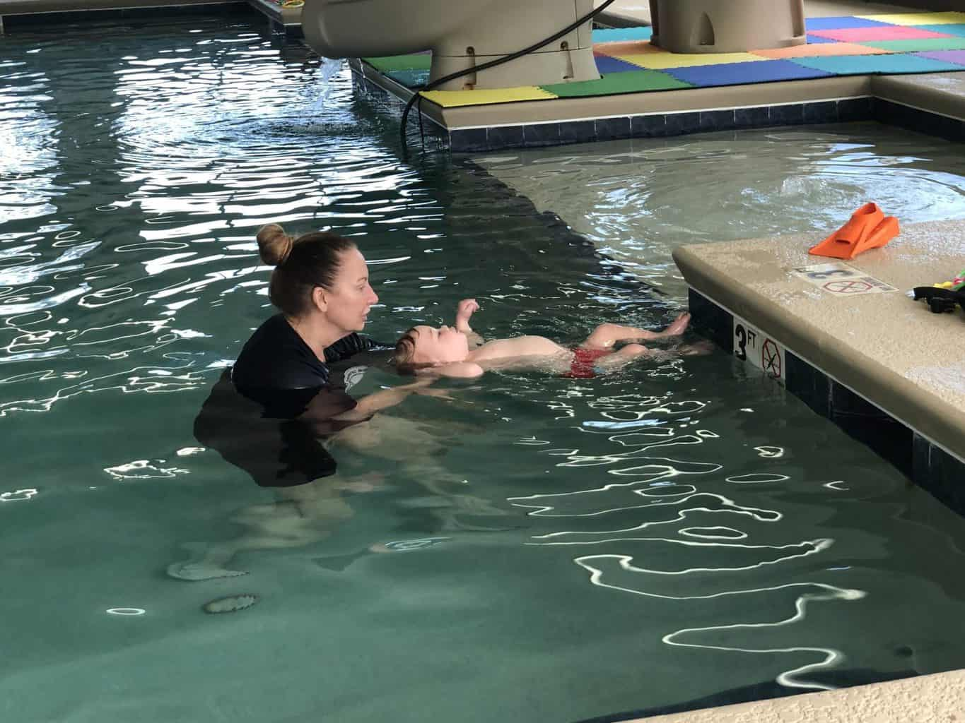 learning to float in water