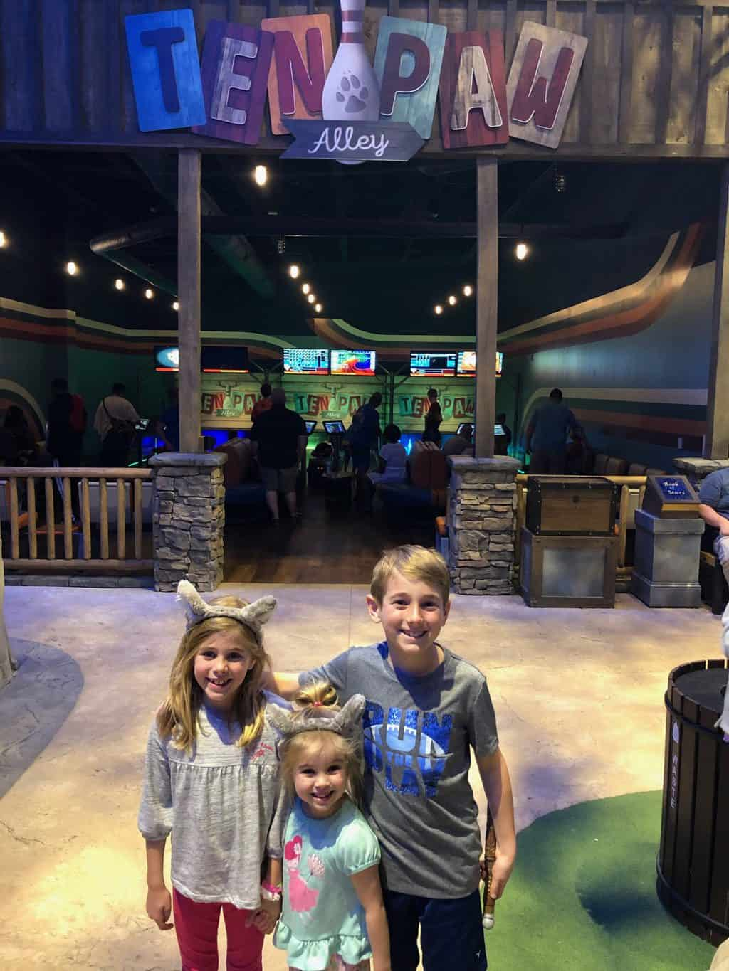 bowling at great wolf