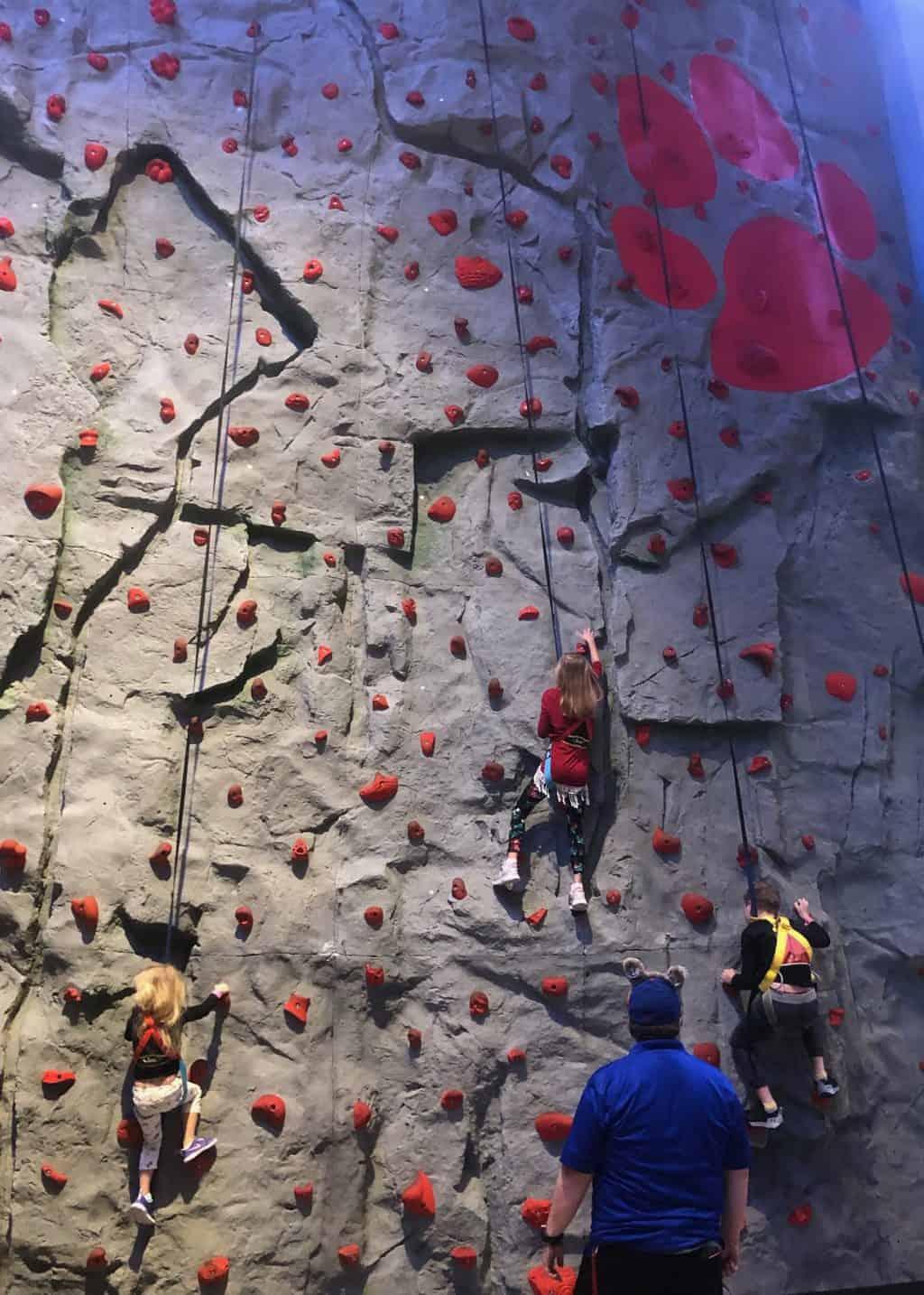 great wolf lodge rock wall