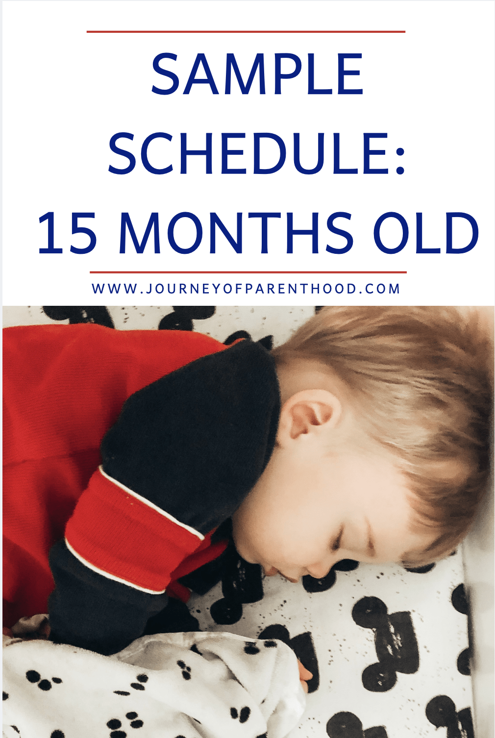 sample schedule for 15 months old