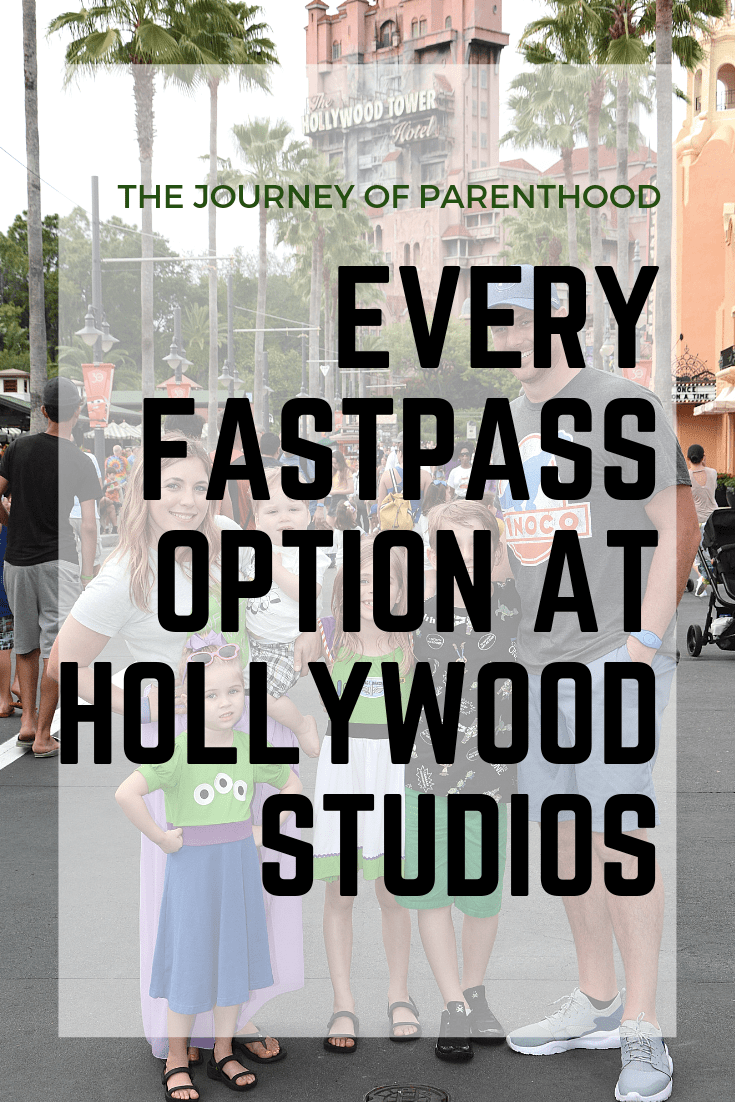 every fastpass option at Disney's Hollywood Studios