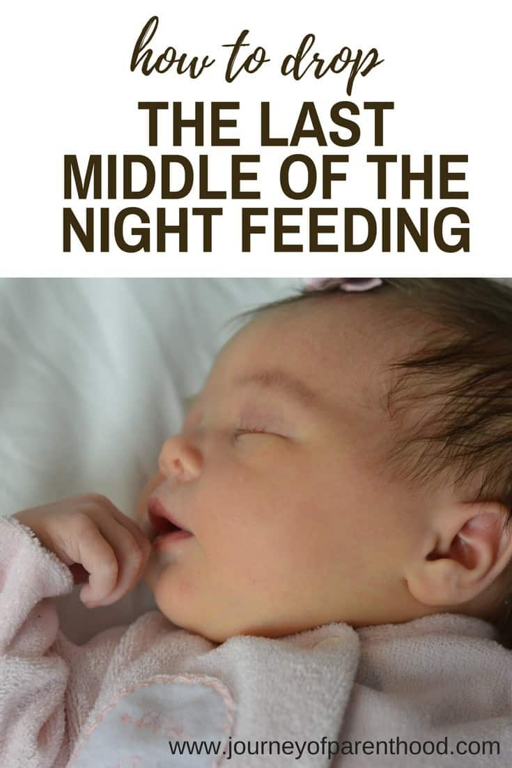 how to drop the last middle of the night feeding