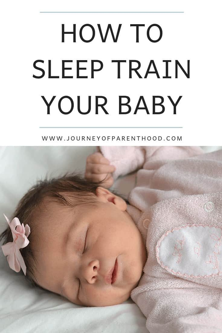 pinterest image: how to sleep train your baby